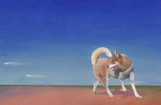 Image of Painting - Travels with Dharma Dog